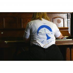 "Shirt gestaltet von Lisa Neher, Motiv ""Glückskeks"" // blau (backprint)"